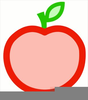 Outline Of An Apple Clipart Image