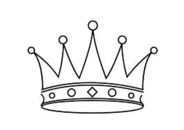 Princess Crown Drawing In Black And White Tiara Image Vector Clip
