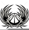 Basketball With Wings Clipart Image