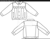 Jacket Black And White Clipart Image