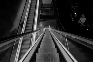 Escalators Vectorise Image