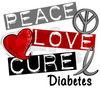 Peace Love Cure Diabetes Image