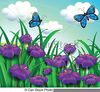 Clipart Of Garden With Flowers Image