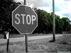 Stop Sign Black And White Clipart Image