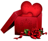 Hearts With Roses Clipart Image