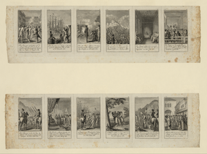 [scenes From Events And Battles Leading Up To And During The American Revolution, 1775-1783, As Depicted In 12 Illustrations]  / D. Chodowiecki Inv. Et Del. ; D. Berger Sculpsit 1784. Image