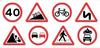 Curvy Road Signs Clipart Image
