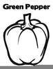 Bell Pepper Outline Image