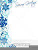 Seasons Greetings Border Clipart Image