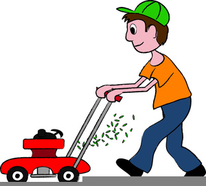 free clipart of man cutting grass free images at clker com rh clker com  lawn mower cutting grass clip art