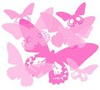 Pink Butterfly Silhouette Background Image