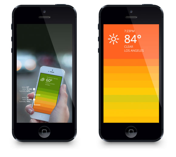 Blue weather app iphone free images at for Application iphone temperature interieur