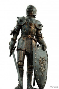 Medieval Knight With Full Body Armor Thumb Image