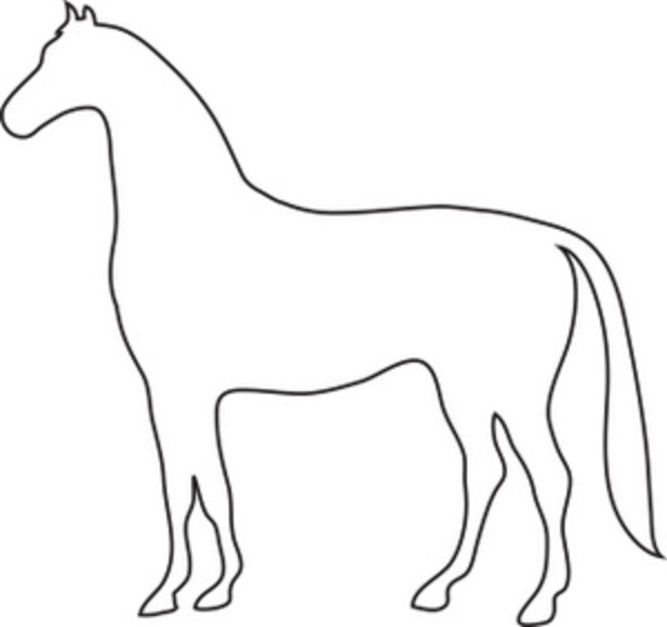 horse outline free images at clker com vector clip art online rh clker com  house outline clip art for free
