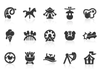 0133 Amusement Park Icons Xs Image