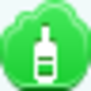 Free Green Cloud Wine Bottle Image