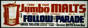 Try Our Jumbo Malts - It S New, It S Different, So Is ...   Follow The Parade  Image