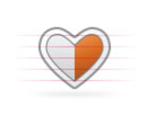 Origami Heart Half | Free Images at Clker com - vector clip