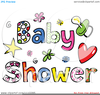 Baby Shower Sports Clipart Image