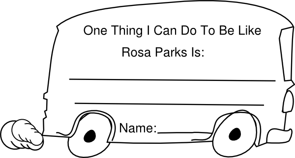 Rosa parks bus clip art at vector clip art for Rosa parks coloring pages