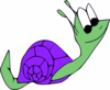 Snail With Purple Shell Clip Art