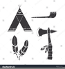 Native American Tomahawk Clipart Image