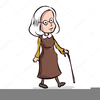 Old Lady Cartoons Clipart Image