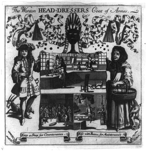 The Wanton Head-dressers Coat Of Armes.  Keep A Shop For Contenance/kiss With Beaus For Maintenance  Image
