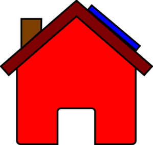 Red House And Solar Panel Clip Art