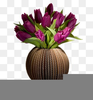 Vases Of Flowers Clipart Image