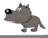 Free Big Bad Wolf Clipart Image