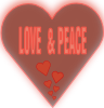 Love And Peace In A Heart Clip Art