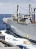 Ordnance Transfers Aboard Uss Carl Vinson From The Military Sealift Command Ship Usns Mount Shasta Image
