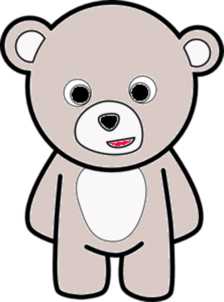 Teddy Bear Outline Md  Free Images at Clkercom  vector clip art