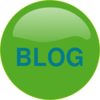 Blog Button Green Blue Clip Art
