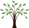 Whispy Tree Clip Art