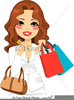 Free Cartoon Clipart Of A Woman Holding A Purse Large Image