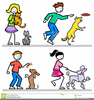 Free Clipart Of People Walking Dogs Image