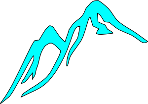 Mountain Tops Covered With Ice Clip Art