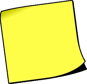 Post It Note | Free Images at Clker.com - vector clip art ...
