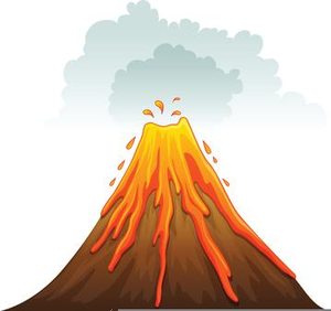Image result for free clipart volcano