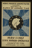 Works Progress Administration, Illinois, District 6--march Of Leisure Time May 1st 1937, State Armory - Springfield. Image
