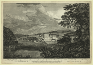 A View Of Bethlem, The Great Moravian Settlement In The Province Of Pennsylvania Vue De Bethlem, Principal Etablissement Des Freres Moraves Dans La Province De Pennsylvania / Sketch D On The Spot By His Excellency, Governor Pownal ; Painted & Engraved By Paul Sandby. Image