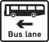 Bus Lane Sign Clip Art