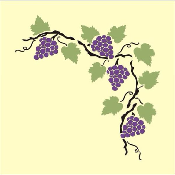 free clipart borders grape vines