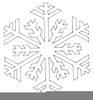 Free Snow Flake Border Clipart Image