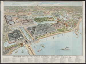 Bird S-eye View Of The World S Columbian Exposition, Chicago, 1893 Image
