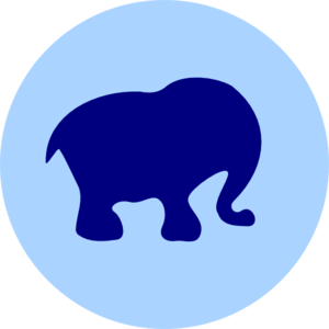 Elephant In Circle Clip Art