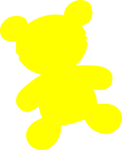 Yellow Teddy Bear Clip Art