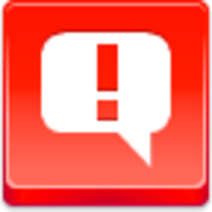 Free Red Button Icons Message Attention Image